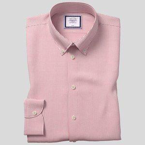 Charles Tyrwhitt Pink Checker Button Down